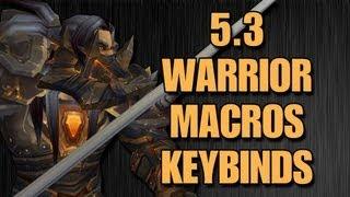 Bajheera - 5.3 Warrior Macros u0026 Keybinds - Warrior PvP Guide (Part 2)