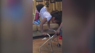 7-Year-Old Girl Doesn't Let Having Amputated Legs Stop Her From Being a Gymnast