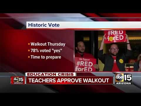 Arizona teachers vote to approve walk out