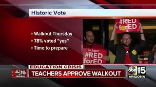 Arizona teachers vote to approve walk out