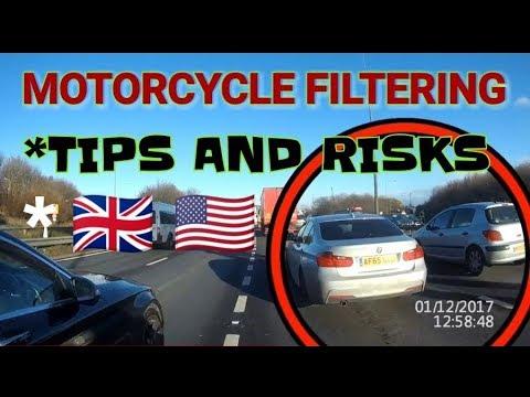 Motorcycle Filtering Tips & Risks Awareness For Beginners (lane splitting)