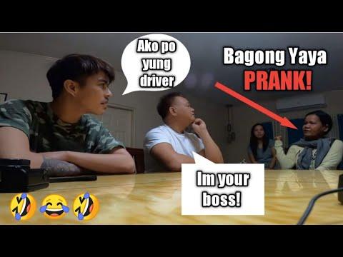 Bagong Yaya Prank! [ako ang driver si mang Jun ang amo english speaking]