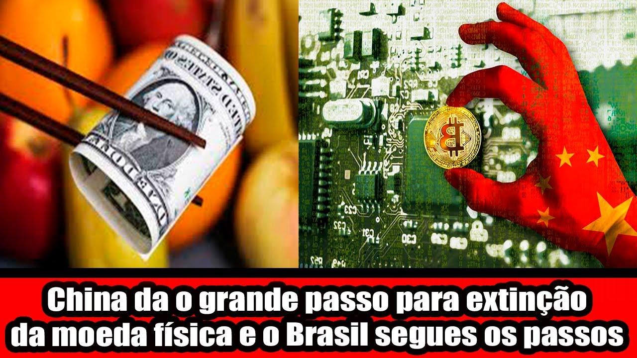 China da o grande passo para extinção da moeda física e o Brasil segues os passos