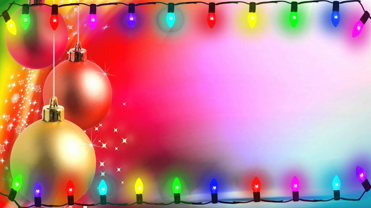flickering christmas lights on christmas ornament back round motion graphic free download youtube