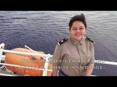 Female Seafarer - Third Officer Onboard.