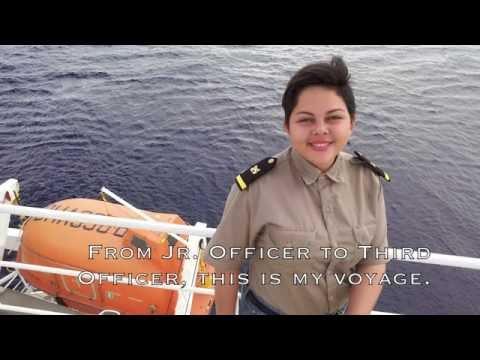 Female Seafarer - Third Officer Onboard.