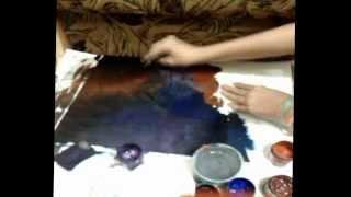 Как нарисовать космос гуашью? Легко и быстро!(В этом видео я вам покажу как можно нарисовать космос с помощью обычной губки гуашью., 2015-07-01T09:51:15.000Z)