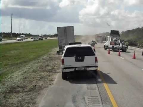 Fatality Incident - I-95 FL Car Cut In HALF