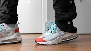 Influencia Suelto Colector  NIKE AIR MAX 270 REACT || IMPORTANT SIZING INFO + QUICK REVIEW + ON FOOT -  YouTube