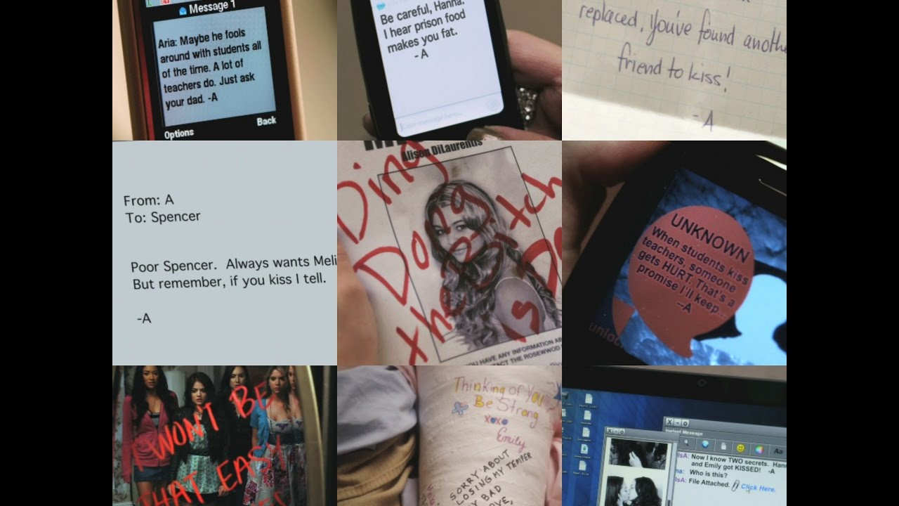 Pretty Little Liars - All A Messages from Season 1 - YouTube