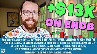 +$13k on (NASDAQ: ENOB)   Recap by Ross Cameron