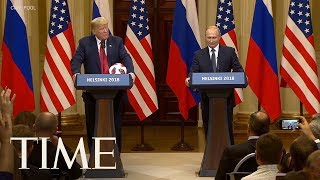 Putin Gives Trump A Soccer Ball After Russia Hosted The World Cup | TIME
