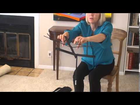 Beginning Clarinet Lesson- Assembling & Disassembling a 1 Piece Music Stand