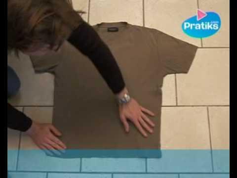 Comment plier un t shirt en 5 secondes youtube - Comment plier un t shirt ...