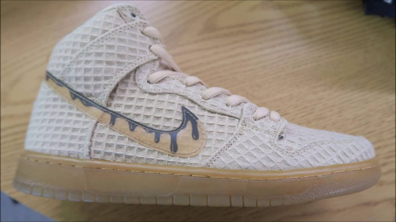 newest 96c7d 7e7a8 Nike SB Chicken   Waffles Dunk High Sneaker Review - YouTube