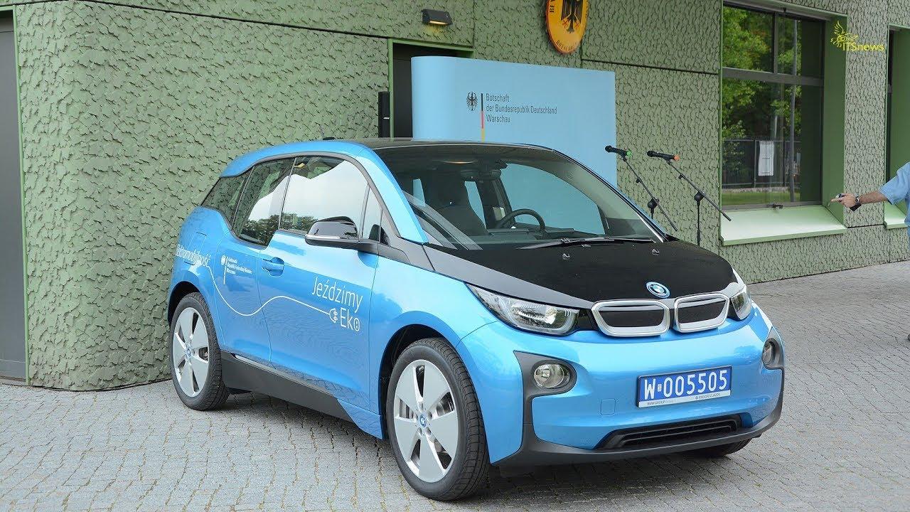 BMW i3. Prezentacja, jazda testowa. Ambasador Republiki Federalnej Niemiec Rolf Nikel.