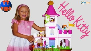 Hello Kitty ЗАМОК ПРИНЦЕССЫ - Распаковка от Ярославы Игры для девочек Unboxing Princess Castle