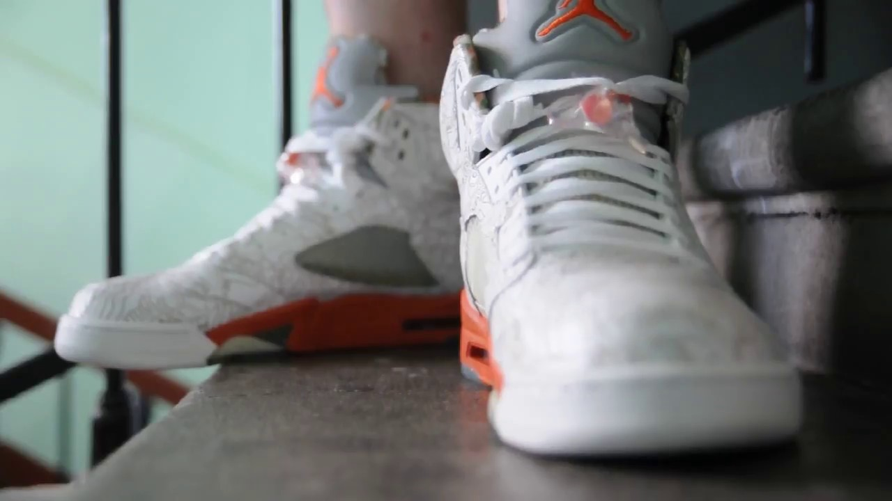 35627fe4068e 2007 Air Jordan 5 (V) Retro RA   Laser   on feet womft - YouTube