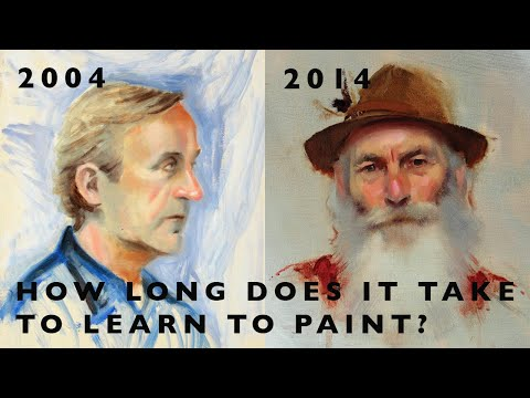 Portrait Painting By Alex Tzavaras - How Long Does It Take To Learn?