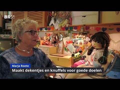 Marja Roete maakt droomdekentjes en poppetjes voor het goede doel