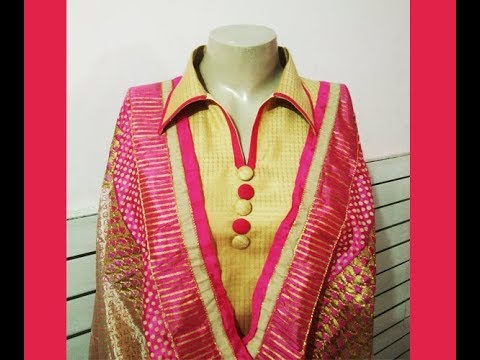 562dbe9b Latest Collar Neck Design | Neck Design Cutting and Stitching for Punjabi  suit/kurti