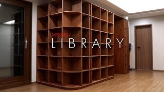 W73_Wall Book shelves library