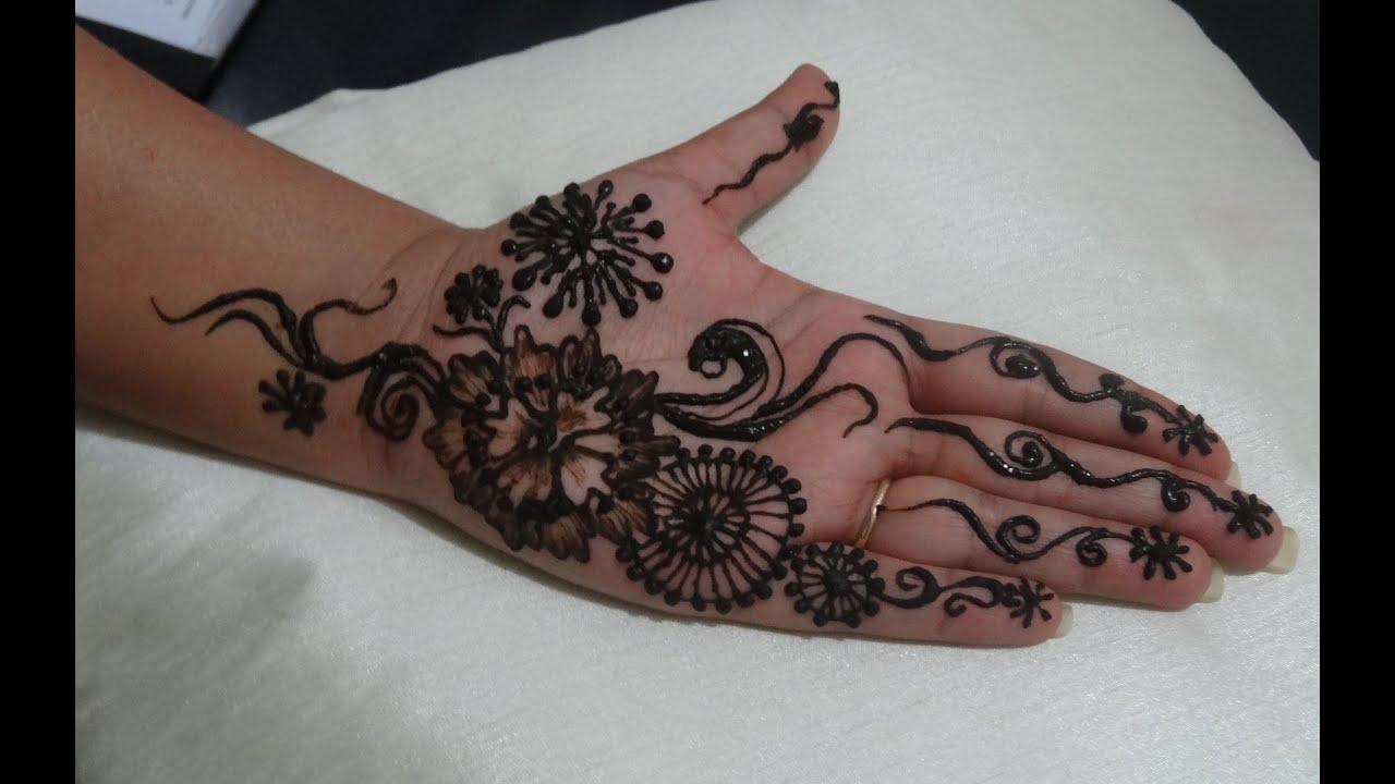 Mehndi Body Art Quality Henna : Beautiful easy arabic henna design for eid karwa chauth indian
