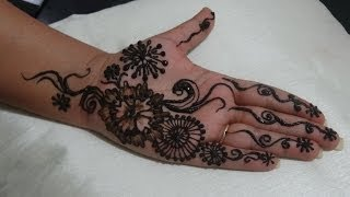 Beautiful Easy Arabic Henna Design For Eid Karwa Chauth Indian Pakistani Mehndi/Mehendi/Mendhi Tatoo