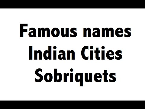 Indian cities - Famous Names - Sobriquets - Static GK