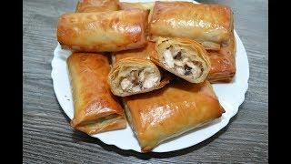 Zapętlaj Пирожки из теста фило с курицей и грибами | Готовим с удовольствием