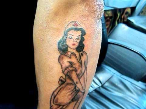 Pin Up Tattoo Enfermera Del Amor Tatuajes Osorno La
