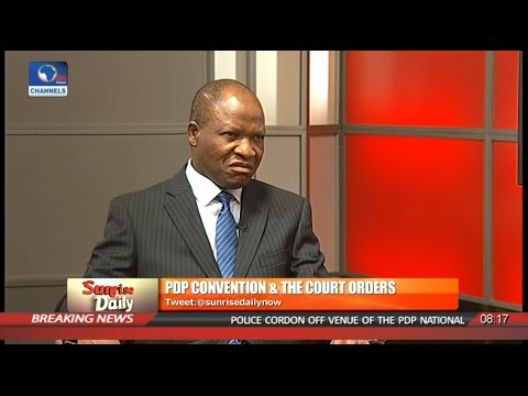 P/Harcourt Court Judgement On PDP Convention Supercedes Abuja Court Order - Legal Practitioner Pt 2