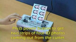 Electric ID Photo Cutter Demo Video
