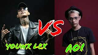 Younx lex vs Aoi ( Behind  - jangan di anggap) keren abis.