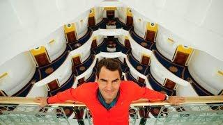 Roger Federer revisits Dubai's iconic Burj Al Arab