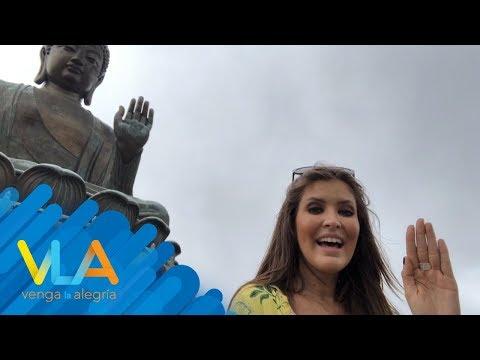 ¡Vanessa Claudio le midió los bíceps a La Roca! | Venga la Alegría