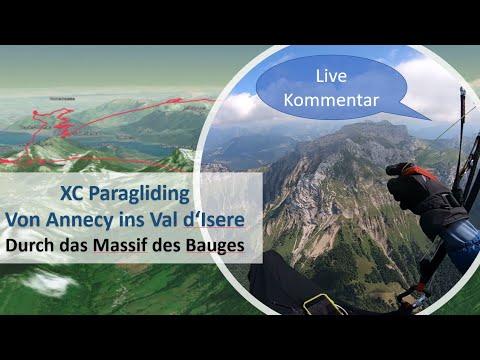 XC #Paragliding - #Annecy ins Val d'Isere - durchs Massif des #Bauges
