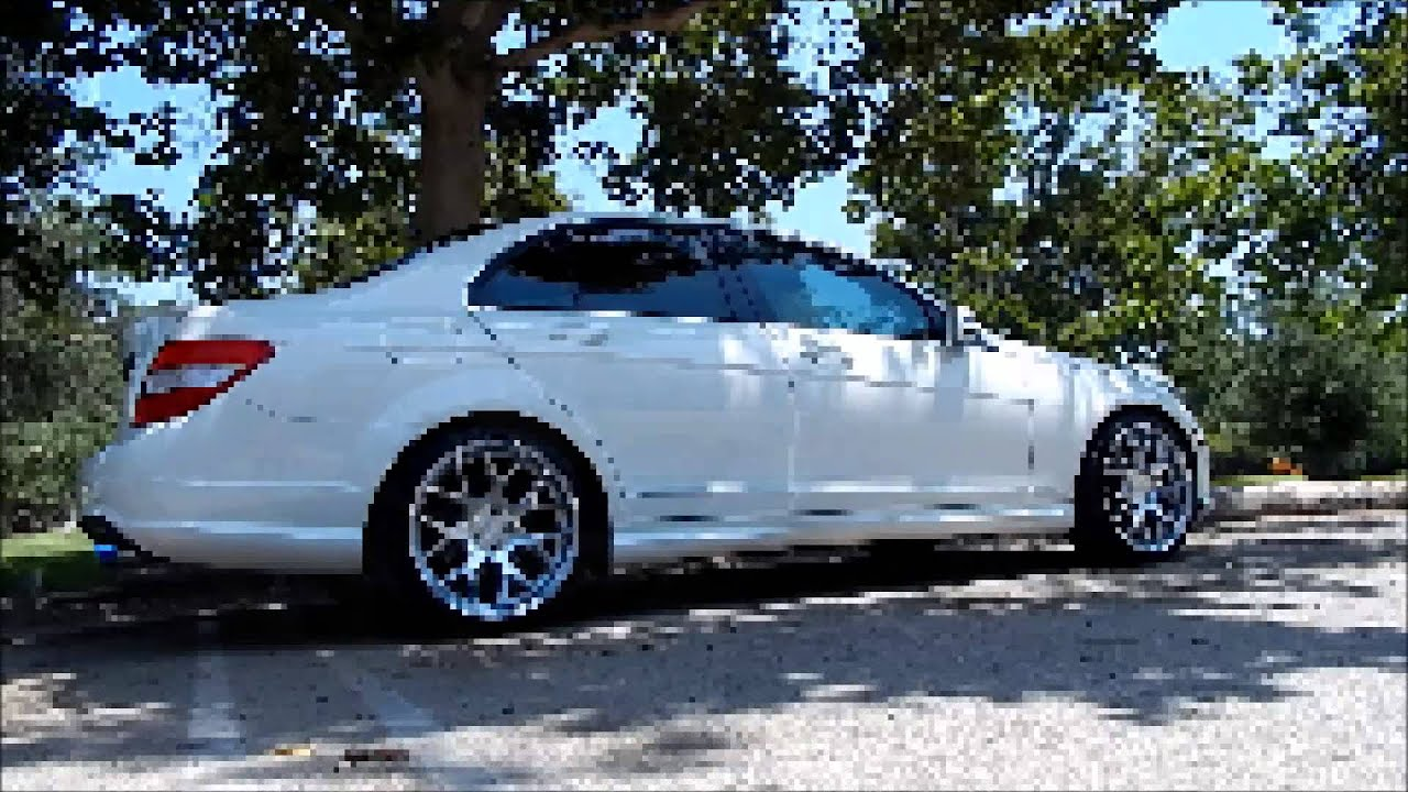 My mercedes benz c300 on 19 ag m590 wheels youtube for Mercedes benz ag