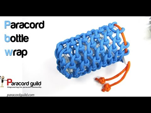 Paracord Bottle Wrap Half Hitching Youtube