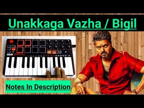 bigil-unakaga-vazha-ninaikiren-piano-notes-|-vijay-|-ar-rahman-|-musical-notes-4u