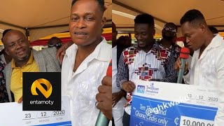 Sammy Adjei Almost In Tears As Asamoah Gyan & Twellium Ind Surprise him with Ghs 10,000