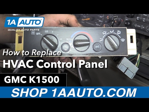 How to Replace HVAC Control Panel 88-98 GMC K1500