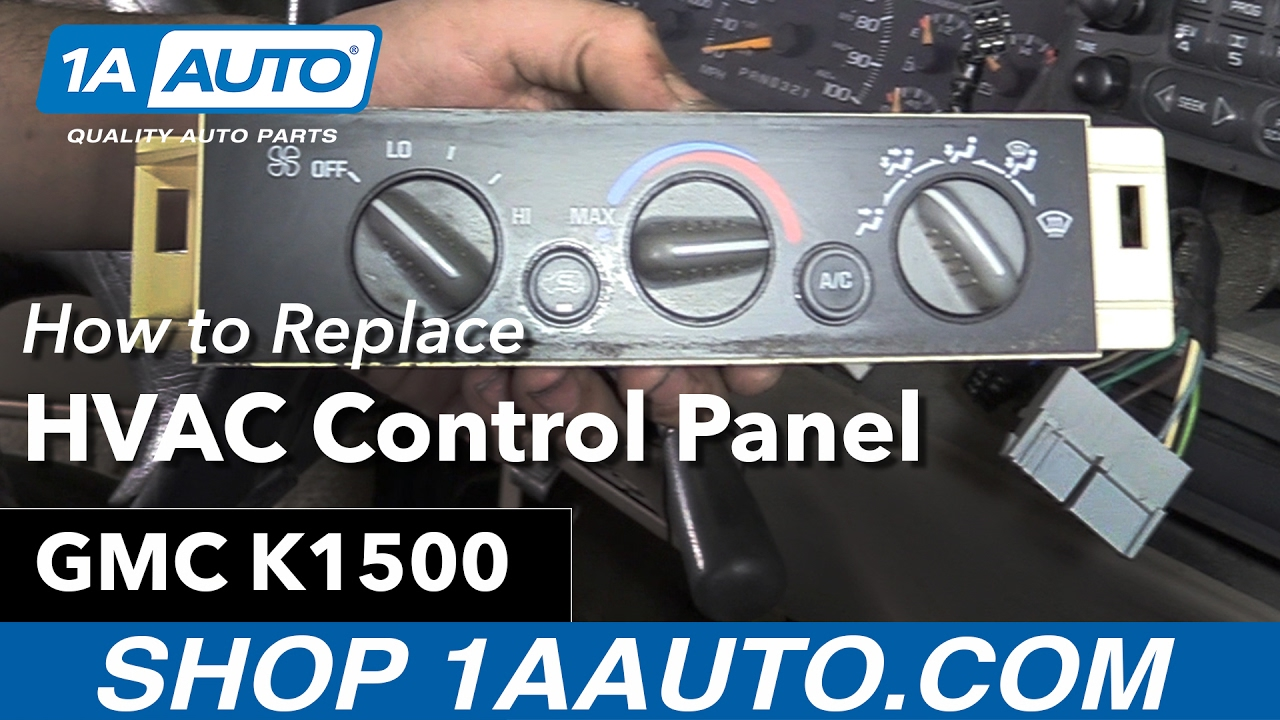[DVZP_7254]   How to Replace HVAC Control Panel 88-98 GMC K1500 - YouTube | 98 Chevy Ac Wiring |  | YouTube