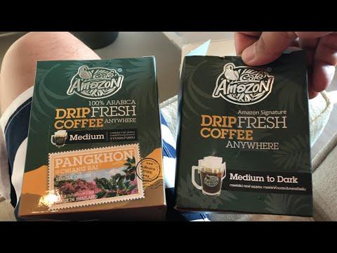 รีวิว Cafe Amazon กาแฟอเมซอน ดริป กลิ่นรสชาติ ไม่แพ้ กาแฟ Starbucks สตาร์บัค