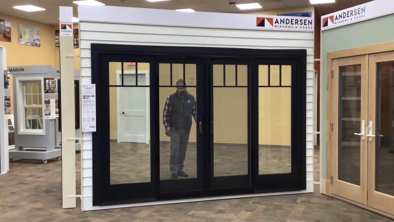 andersen windows frenchwood 4 panel gliding patio door