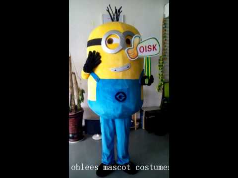 ohlees Despicable Me Minions cartoon mascot costumes fancy suit