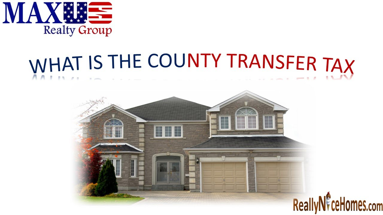 maryland real estate information    county transfer tax youtube
