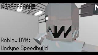 Roblox BYM: Undyne speedbuild