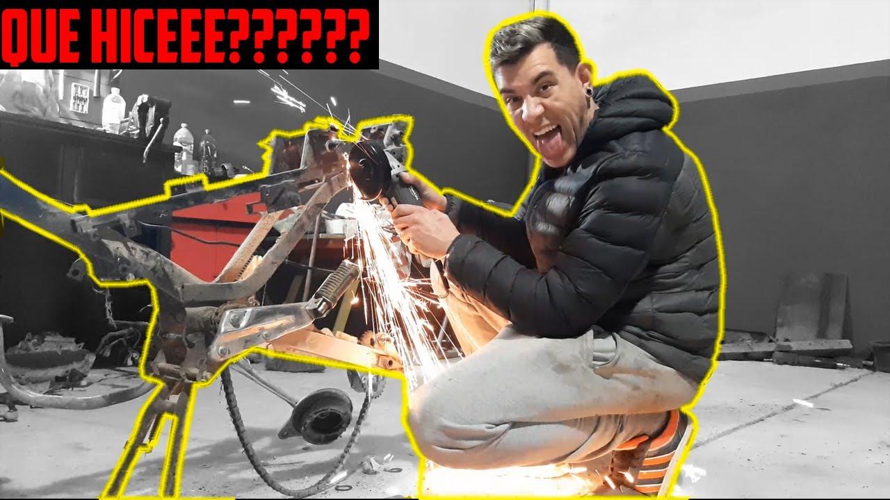 CORTANDO EL CHASIS DE LA MOTOOOO!!!  ME VOLVI LOCOOOO??| PERREMOTOVLOG