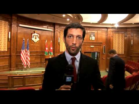 PLATEAU POST CONF PRESSE JOHN KERRY A AMMAN POUR CONF AMIS SYRIE 22 mai 2013